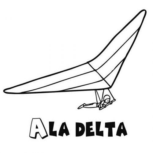 Dibujo Para Colorear De Un Ala Delta