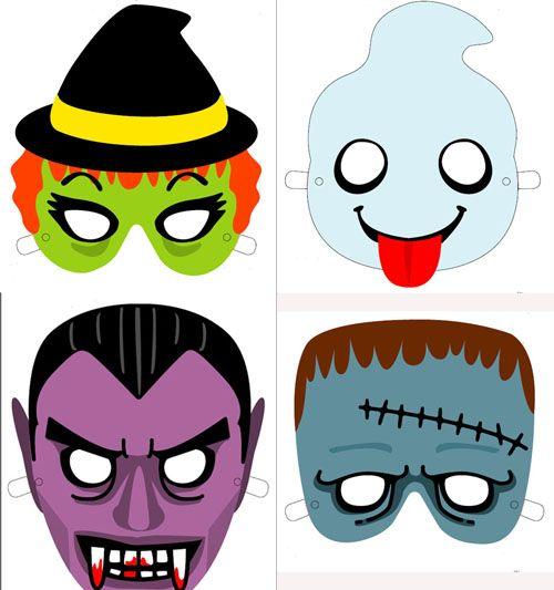 Mascaras De Halloween Para Imprimir En 2019