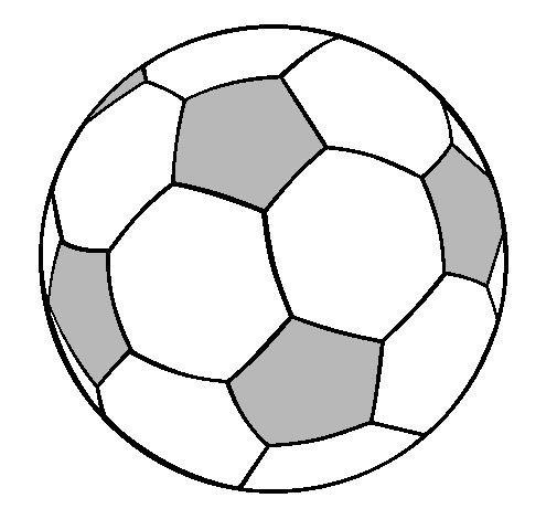 Balon Futbol Colorear