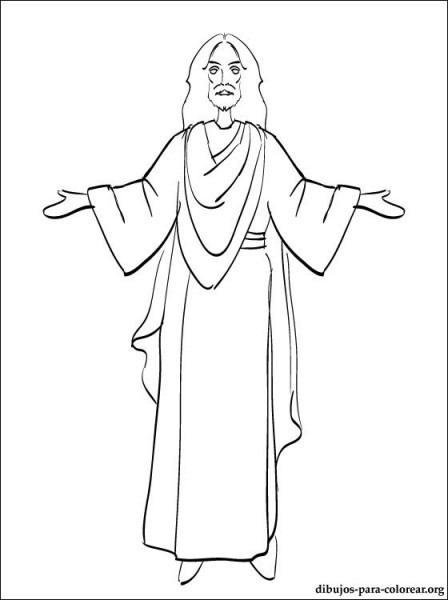 Jesus Dibujo Para Colorear – ¡cristo Ha Resucitado