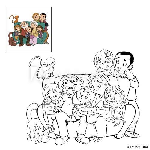 Familia Dibujo Para Colorear