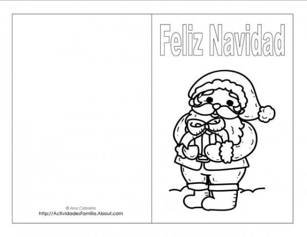 Descargra Gratis  Tarjetas De Navidad Para Colorear