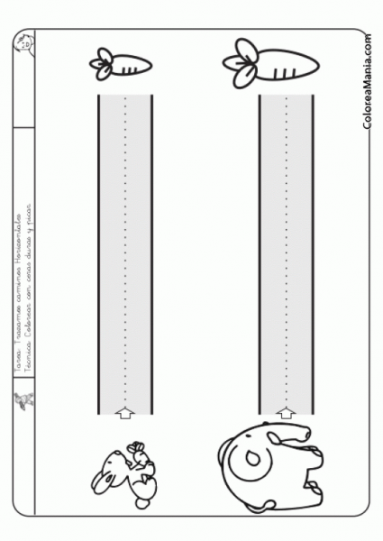 Colorear Traza El Camino De Los Animales (nivel A) Fácil), Dibujo