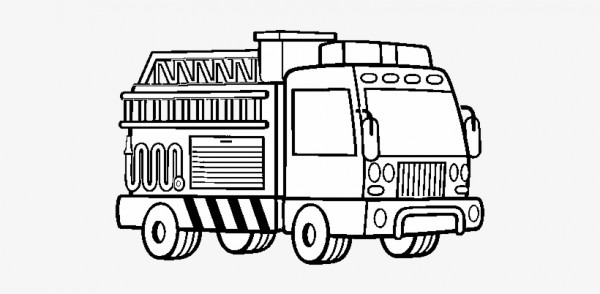 A Fire Truck Coloring Page