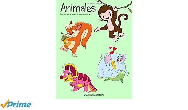 Animales Libro Para Colorear Para Niños Pequeños 1, 2, 3 & 4