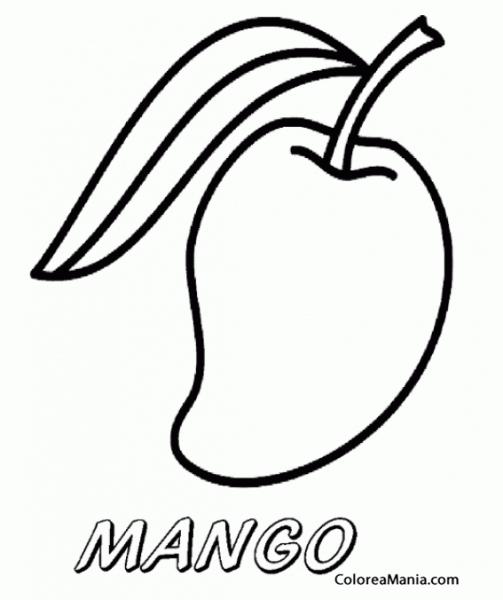 √ Colorear Mango Pequeo (frutas), Dibujo Para Colorear Gratis