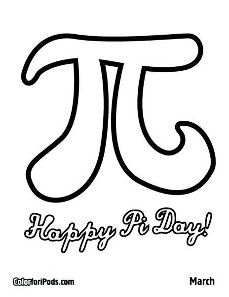 Happy Pi Day! Color This Pi Coloring Page For A Chance To Win An