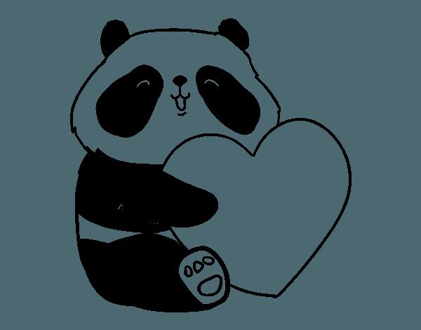 Oso Panda Para Colorear