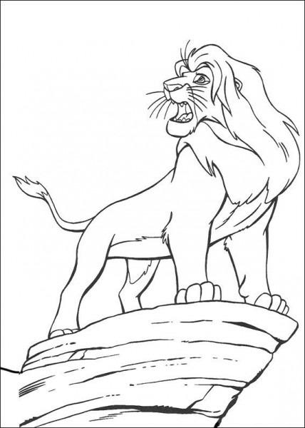 Dibujos Para Colorear El Rey Leon 3
