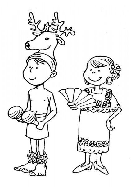 Danzas De La Selva Dibujos Para Colorear