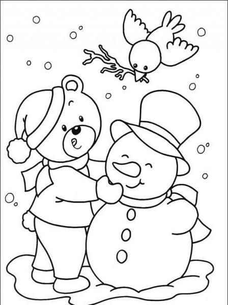 Imagenes Dibujos De Navidad Para Colorear Muñeco De Nieves