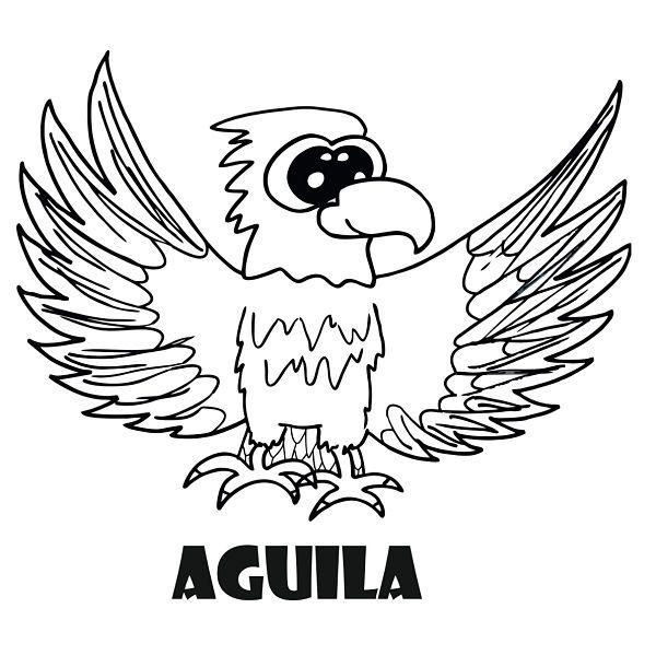 Dibujo De Animales Para Colorear  Dibujo De águila Para Colorear