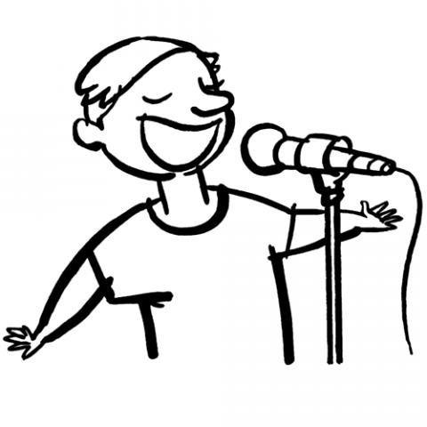 Dibujos De Un Cantante O Pop Star Para Colorear Con Los Niños