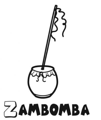 Zambomba  Dibujos Para Colorear