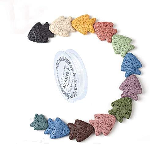 Xlhmily Color Mezclado Natural 35 32 8mm Pez Piedra De Lava Para