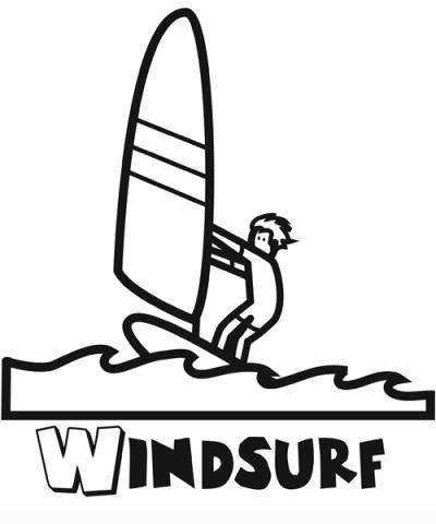Windsurf  Dibujos Para Colorear