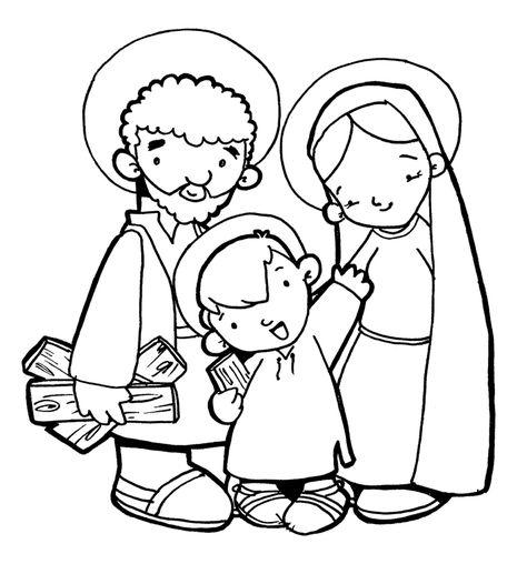 La Sagrada Familia De JesÚs, MarÍa Y JosÉ Para Pintar