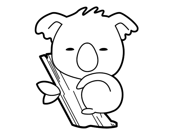 Dibujo De Koala Bebé Para Colorear …