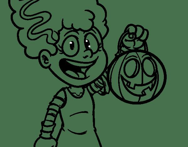 Dibujo De Disfraz De Halloween Para Colorear En 2019