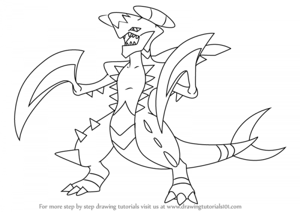 Learn How To Draw Garchomp From Pokemon (pokemon) Step By Step