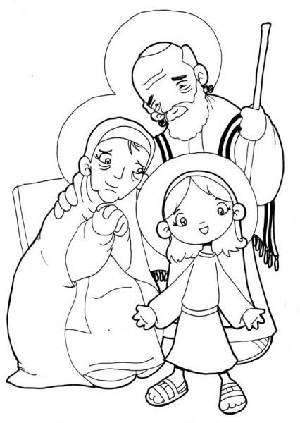Dibujos Para Catequesis  San JoaquÍn, Santa Ana, Y La Virgen NiÑa
