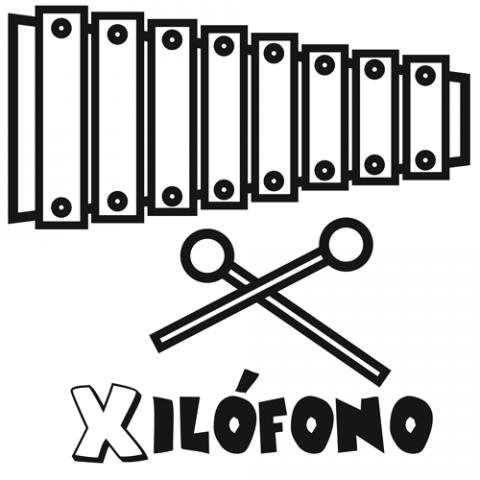 Dibujo De Xilófono Para Colorear  Imágenes De Música