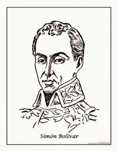 Resultado De Imagen Para Simon Bolivar Para Colorear