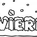 Letras De Invierno Para Colorear E Imprimir