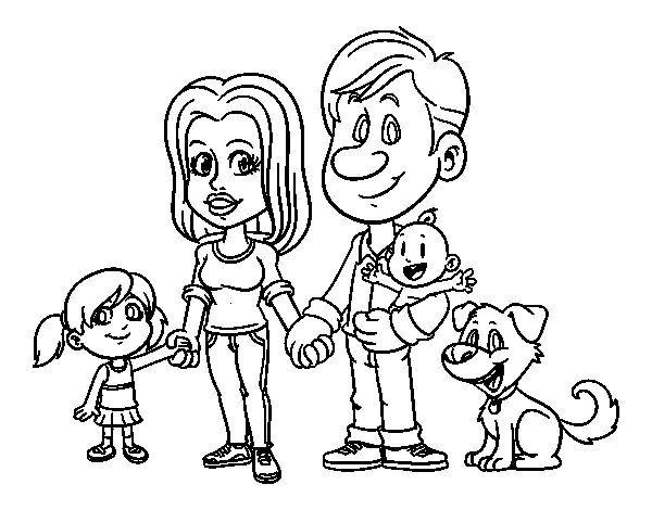 Resultado De Imagen Para Familia Para Colorear
