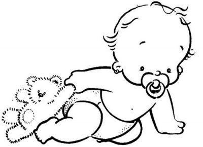 Dibujos De Bebes Faciles Para Colorear