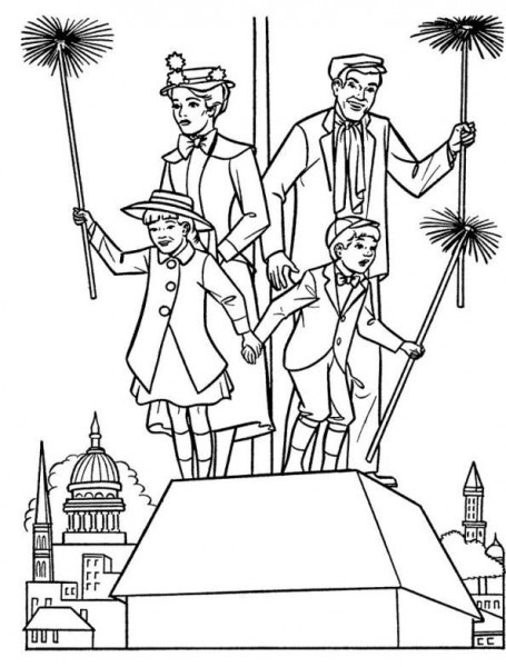 Coloring Page Mary Poppins  Mary Poppins