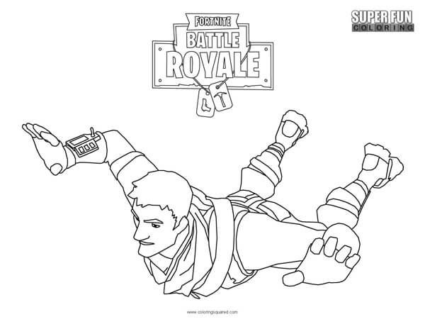 Fortnite Battle Royale Coloring Page In 2019