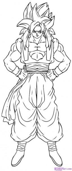 Colorear A Goku En Fase 4