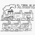 Tren De Alimentos Para Colorear