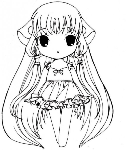 Anime Coloring Pages