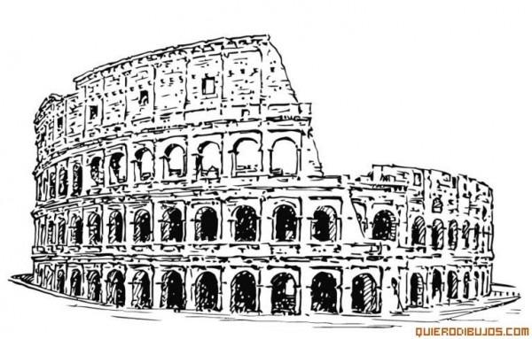 Coliseo Para Colorear En 2019