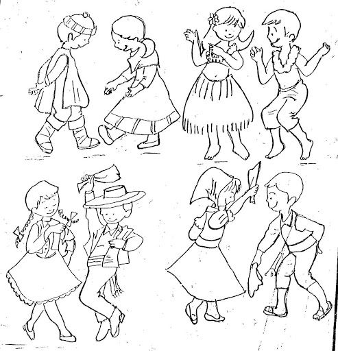 Dibujos Para Colorear De Danzas Folklóricas Del Perú