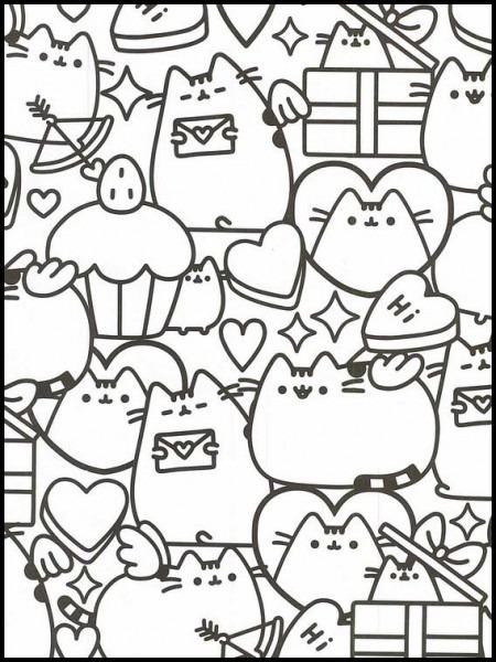 Imprimir Dibujos Para Colorear Pusheen 88