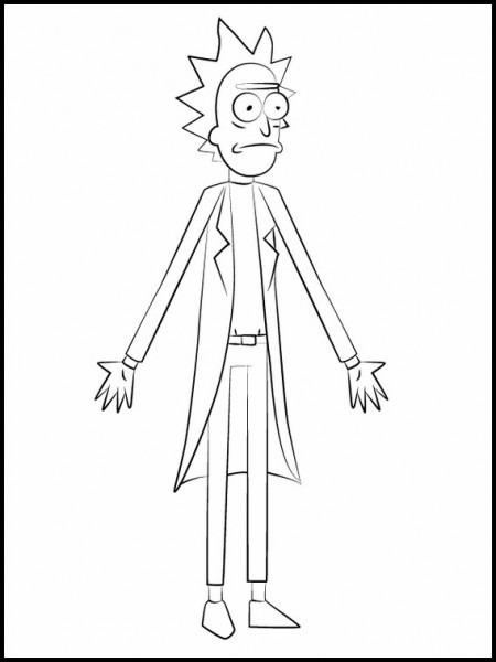 Imprimir Dibujos Para Colorear Rick Y Morty 8