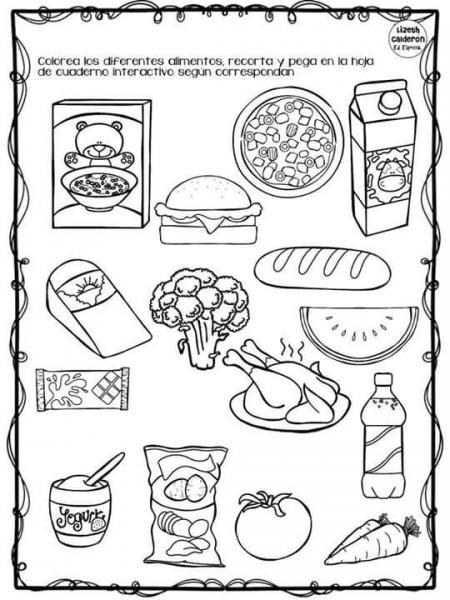 Alimentos Para Hacer Actividad De  Compra