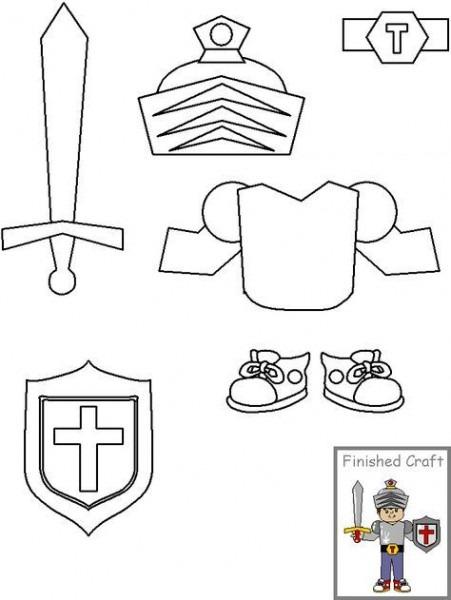 Manualidades Para La Escuela Dominical  Armadura De Dios