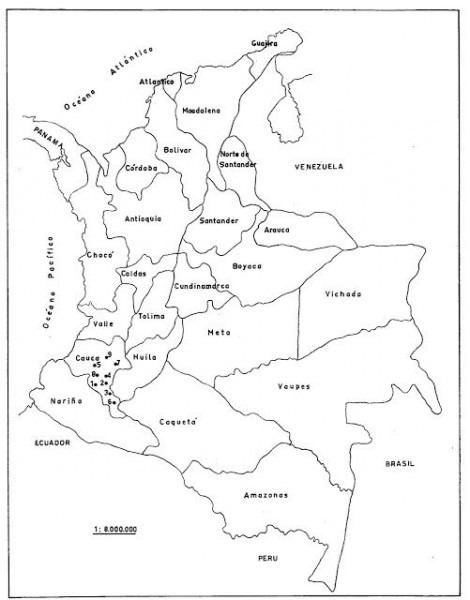 Mapa De Colombia Para Colorear