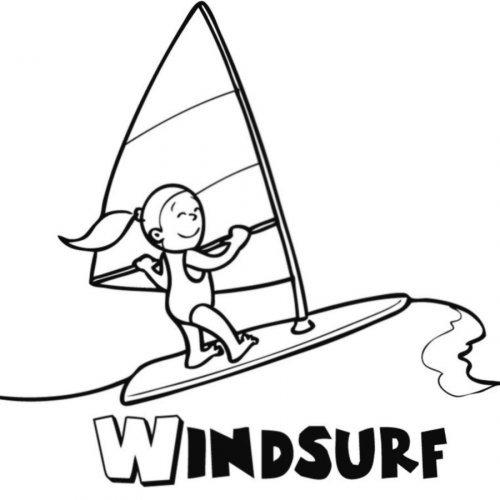 Dibujo Para Imprimir Y Pintar De Windsurf