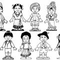 Dibujos Para Colorear De Ni?os De Diferentes Paises