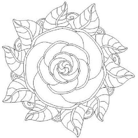 Mandala De Flores Para Pintar E Imprimir …