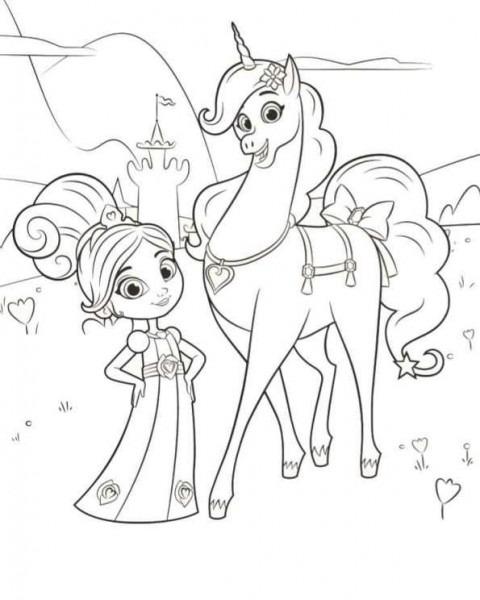 Coloring Page Nella The Princess Knight  Nella Trinket