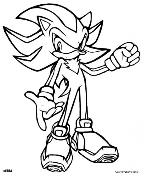 Sonic Coloring Page