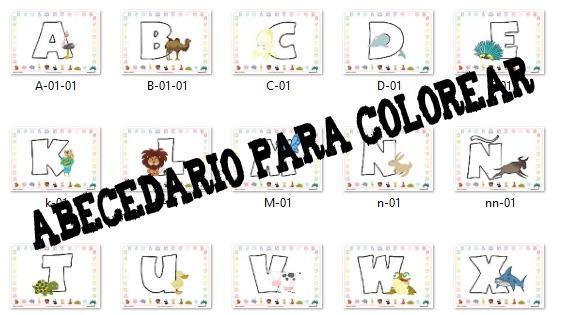 Colorea Las Letras Del Abecedario