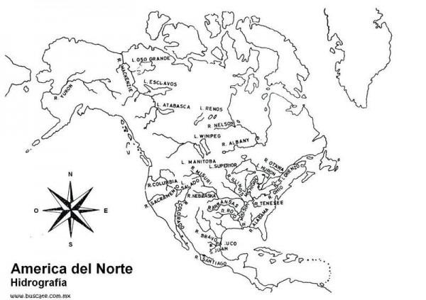 América Del Norte Para Colorear