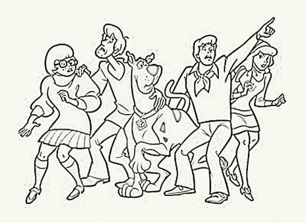 Dibujos De Puntos Y Colorear  Colorear Personajes De Escubidu